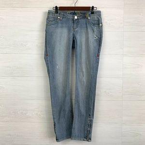 Coogi SZ 7/8 Light Wash Ankle Zip Skinny Jeans